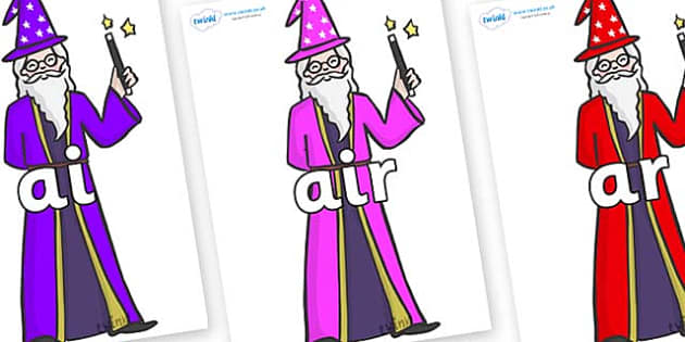 Phase 3 Phonemes on Wizards - Phonemes, phoneme, Phase 3, Phase three, Foundation, Literacy, Letters and Sounds, DfES, display