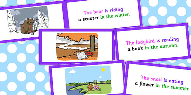 Description Cards Unusual Sentences Who What Doing To What When