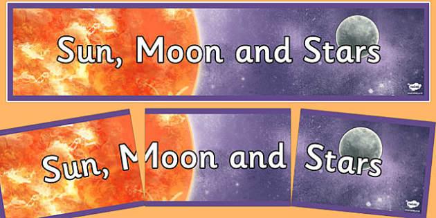 Sun, Moon and Stars Display Banner - sun, moon, stars, display banner, display, banner