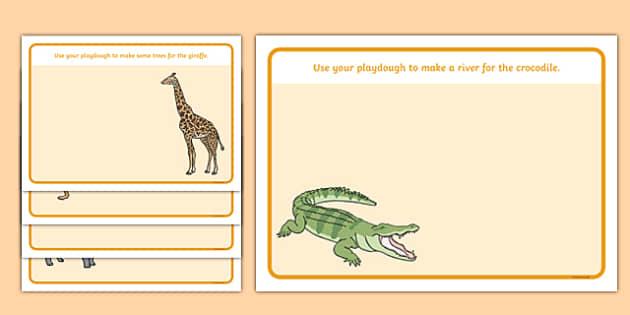 Crocodile Themed Playdough Mats - The Selfish Crocodile, fine motor skills, making, craft, independent activity, ks1, eyfs, early years