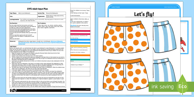 EYFS Rescue the Underpants Adult Input Plan and Resource Pack - EYFS, Aliens Love Underpants, Claire Freedman, Ben Cort, space, planets, activities, physical develo