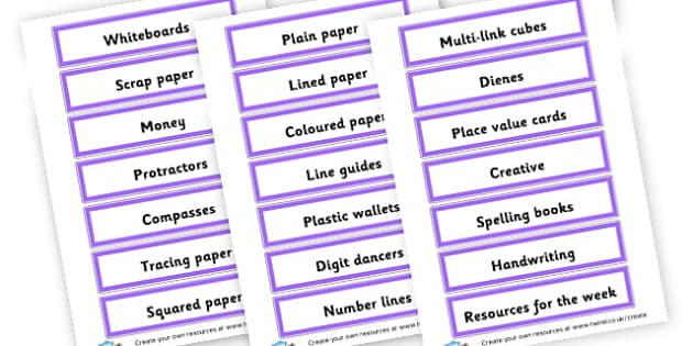 Drawer Labels 5B - Drawer & Peg Name Labels Primary Resources, Name Label, Label, Peg