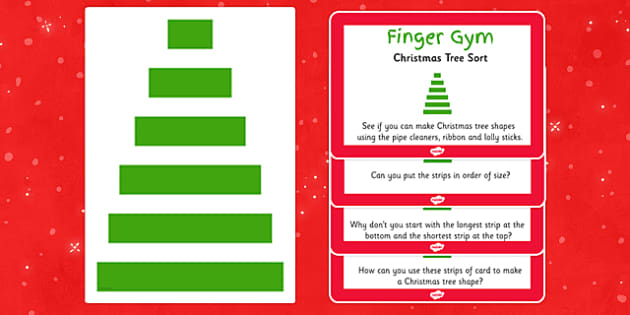 EYFS Christmas Tree Sort Finger Gym Resources - eyfs, christmas tree, sort, finger gym