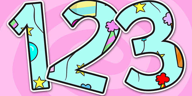 Birthday Themed Display Numbers - birthday, display numbers, birthday display numbers, numbers, numbers for display, display, display numbers, numbering