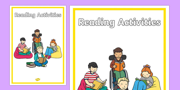 Reading Activities Editable Book Cover