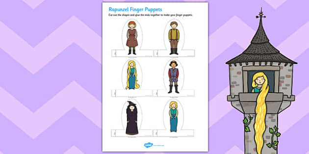 Rapunzel Finger Puppets - rapunzel, finger puppets, puppets