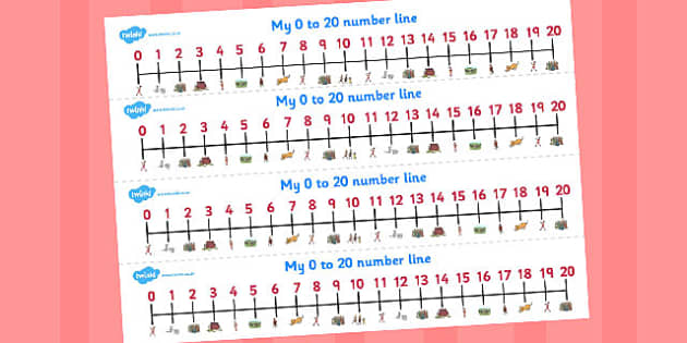 The Pied Piper Number Lines 0-20 - number lines, pied piper
