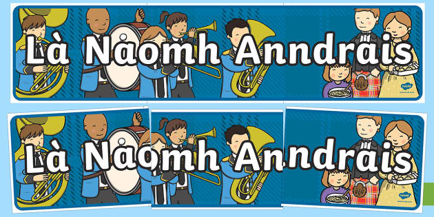 St Andrew's Day (Là Naomh Anndrais) Display Banner-Scottish