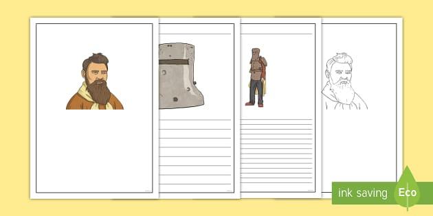 Ned Kelly Writing Frames - Bushrangers, Ned Kelly, outlaw, bushranger, Australian History, Australia,Australia