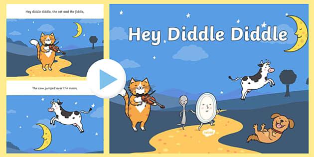 Hey Diddle Diddle PowerPoint - hey diddle diddle, nursery rhymes, nursery rhyme powerpoint, hey diddle diddle nursery rhyme powerpoint, rhyme, song