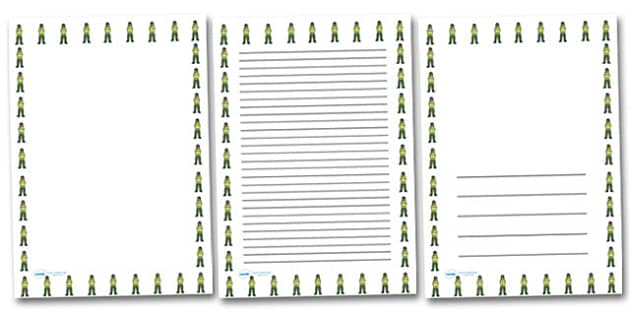 Female Paramedic Portrait Page Borders- Portrait Page Borders - Page border, border, writing template, writing aid, writing frame, a4 border, template, templates, landscape