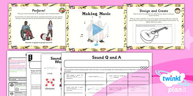 PlanIt - Science Year 4 - Sound Lesson 6: Making Music Lesson Pack - planit, science, year 4, sound