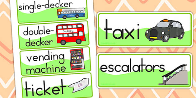 Bus Station Role Play Word Cards - bus station, transport, bus