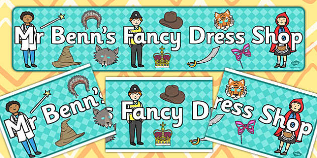 Mr Benn's Fancy Dress Shop Display Banner - Dressing up, shop, fancy dress, costume, fancy dress role play