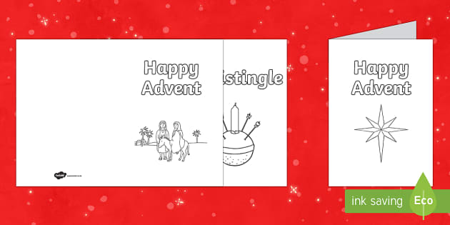 Advent Cards Activity - Christmas, Nativity, Jesus, xmas, Xmas, Father Christmas, Santa, St Nic, Saint Nicholas, traditions