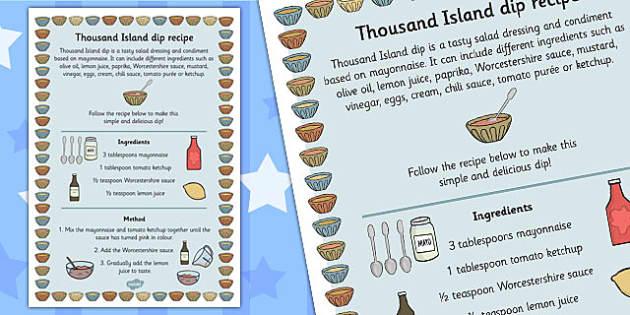 Easy Thousand Island Dip Recipe - thousand island, recipe, dip