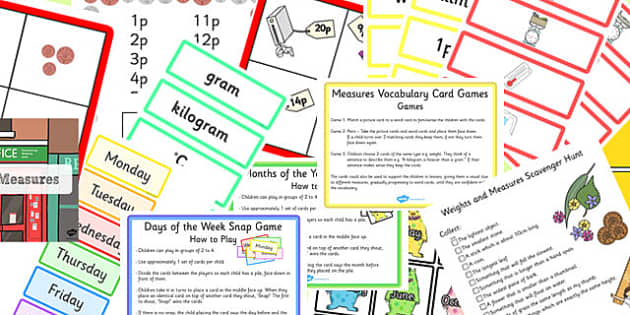 KS1 Measures Starter Ideas Pack - ks1, measures, starter, ideas, pack