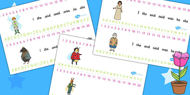 Thumbelina Combined Number and Alphabet Strips - visual aid