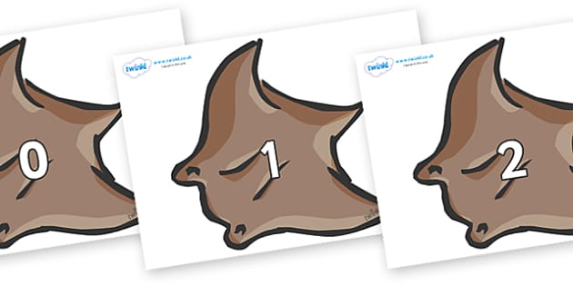 Numbers 0-50 on Manta Rays - 0-50, foundation stage numeracy, Number recognition, Number flashcards, counting, number frieze, Display numbers, number posters