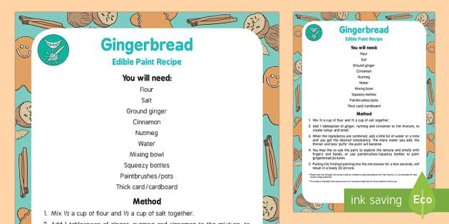 Gingerbread Paint Edible Sensory Recipe - The Gingerbread Man, Traditional Tales, puffy paint, edible, sensory, ginger, Christmas, cinnamon, n