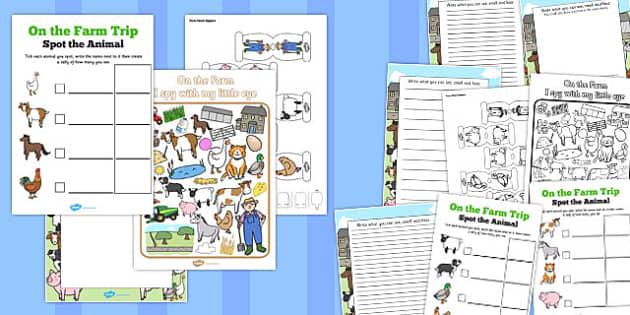 On the Farm Trip Pack - on the farm, trip pack, trip, pack, farm
