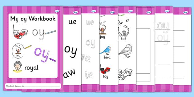 Phase 5 oy Grapheme Workbook - phase five, graphemes, literacy