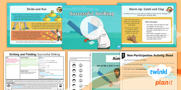 PlanIt - PE Year 3 - Striking and Fielding Lesson 3: Successful Striking Lesson Pack - Striking and Fielding, PE, Physical Education, exercise, sports, Year 3, planning, plans, powerpoint