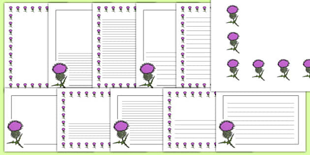 Thistle Page Borders - thistle, page borders, page, borders, flower