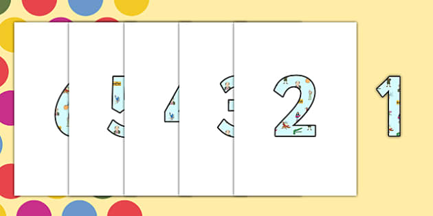 Roald Dahl Display Numbers -  Roald Dahl Display Numbers, Display Numbers, Roald Dahl, Display, Numbers