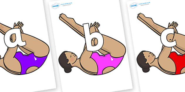 Phoneme Set on Olympic Divers - Phoneme set, phonemes, phoneme, Letters and Sounds, DfES, display, Phase 1, Phase 2, Phase 3, Phase 5, Foundation, Literacy