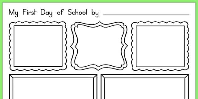 My First Day of School Activity Sheet, worksheet