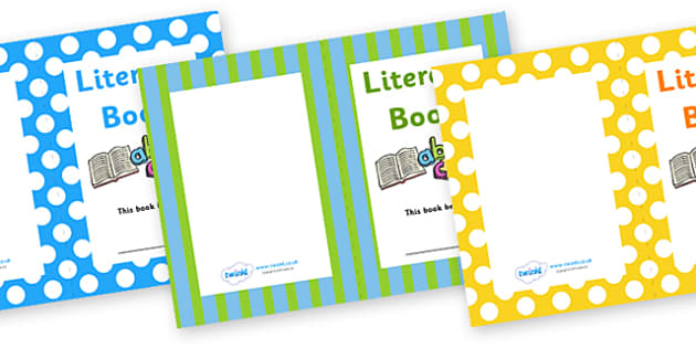 Literacy Book Cover - Literacy, book, cover, book cover, covers, cover sheet, letters, literacy