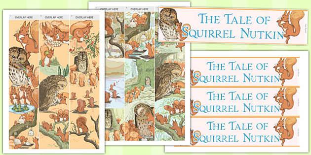 The Tale of Squirrel Nutkin Display Borders - squirrel nutkin