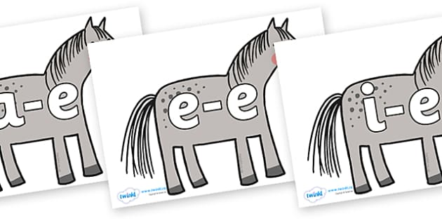 Modifying E Letters on Horse to Support Teaching on What the Ladybird Heard - Modifying E, letters, modify, Phase 5, Phase five, alternative spellings for phonemes, DfES letters and Sounds