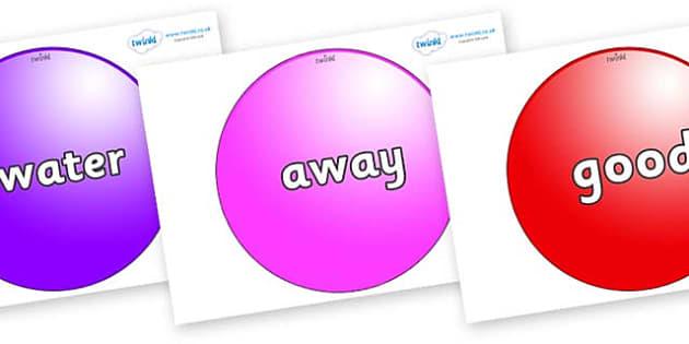 Next 200 Common Words on Spheres - Next 200 Common Words on  - DfES Letters and Sounds, Letters and Sounds, Letters and sounds words, Common words, 200 common words
