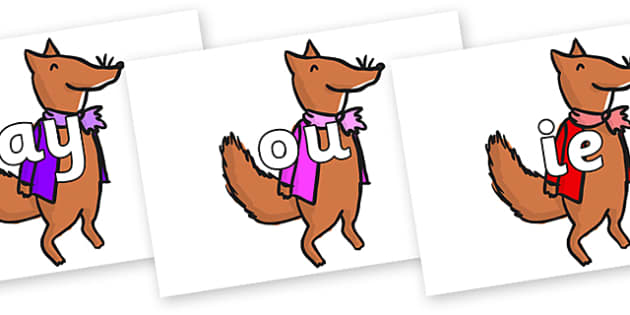 Phase 5 Phonemes on Small Fox 1 to Support Teaching on Fantastic Mr Fox - Phonemes, phoneme, Phase 5, Phase five, Foundation, Literacy, Letters and Sounds, DfES, display