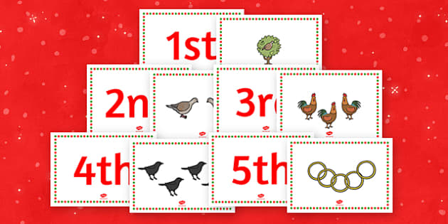 Twelve Days of Christmas Themed Story Sequencing Cards - christmas, xmas
