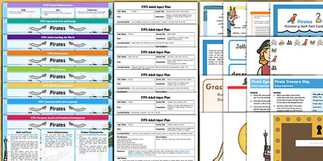 EYFS Pirate Themed Bumper Planning Pack - eyfs, pirate, bumper