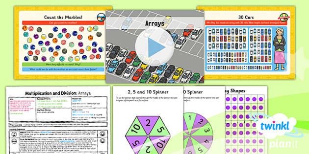 Planit Y1 Multiplication and Division Lesson Pack Arrays - commutativity, commutative, arrays, multiplication and division, planning