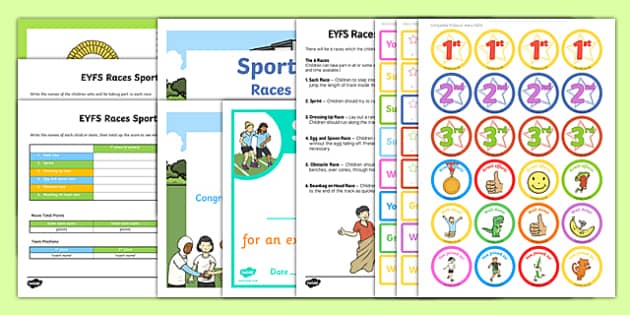 EYFS Races Sports Day Resource Pack