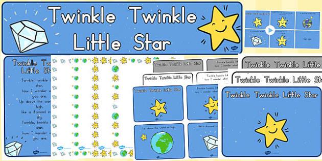 Twinkle Twinkle Little Star Resource Pack - australia, twinkle