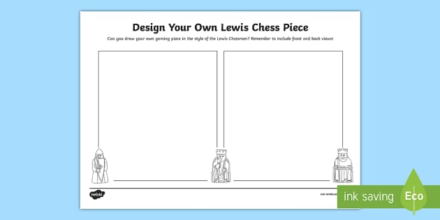 Design Your Own Lewis Chess Piece Activity Sheet - CfE, Lewis Chessmen, Vikings, models, sculpture, people in the past, worksheet, people in past socie