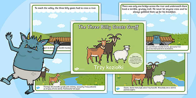 The Three Billy Goats Gruff Story Polish Translation - polish