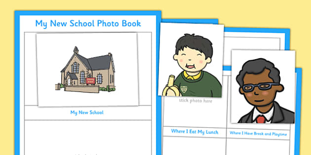 My New School Photo Book - my new school, photo school, photo, book