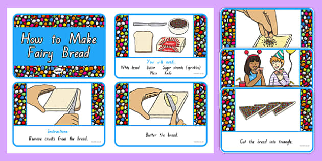 Fairy Bread Story Sequencing Cards