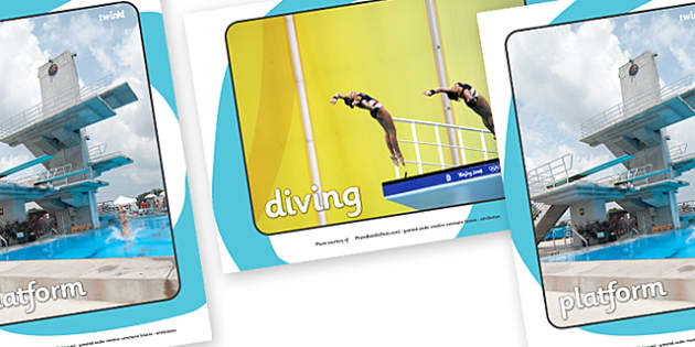 The Olympics Diving Display Photos - Diving, Olympics, Olympic Games, sports, Olympic, London, 2012, display, photo, photos, poster, sign, banner, activity, Olympic torch, events, flag, countries, medal, Olympic Rings, mascots, flame, compete