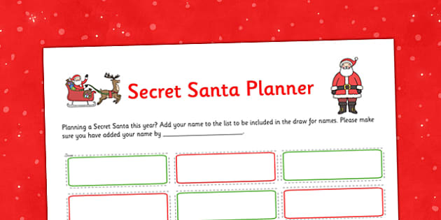 Secret Santa Planner - secret santa, planner, secret, santa, christmas, stree-free