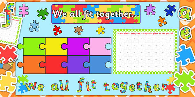 Ready Made We All Fit Together Display Pack - we all fit, display
