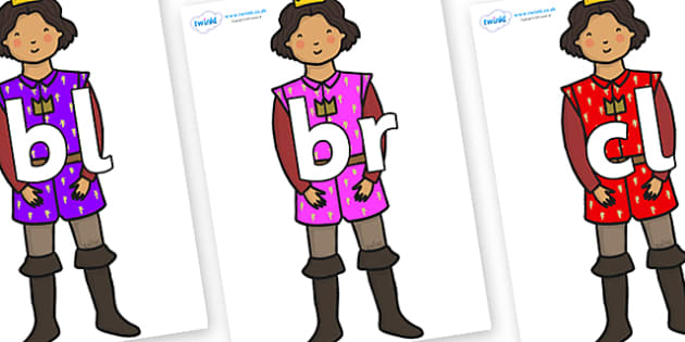 Initial Letter Blends on Princes - Initial Letters, initial letter, letter blend, letter blends, consonant, consonants, digraph, trigraph, literacy, alphabet, letters, foundation stage literacy