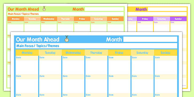 Monthly Home Education Planner - home education, planner, monthly